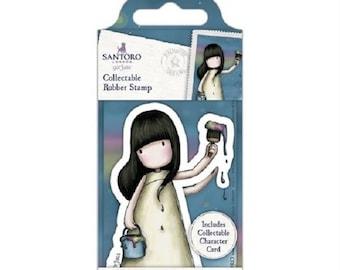 Gorjuss No.46 Rainbow Dreams mini Santoro tampon, rubber stamps gorjuss, girl stamp, mini tampon gorjuss 46, gorjuss // scrapbooking