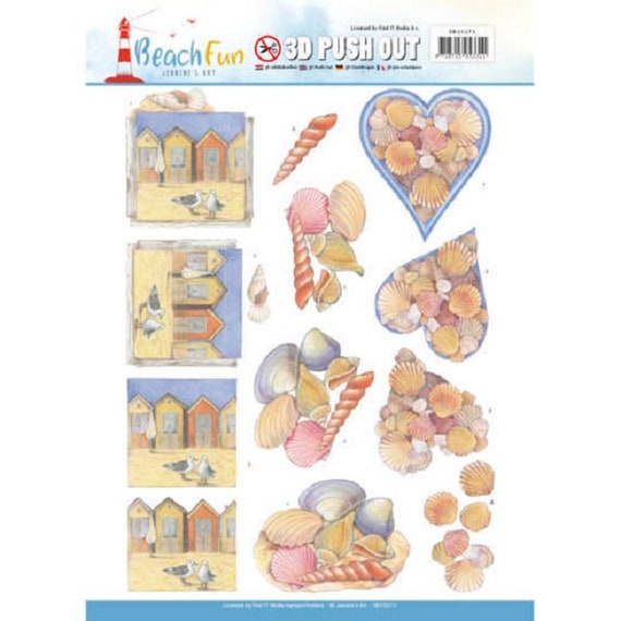 AT THE BEACH HOLIDAY DIE CUTS FOR CARDS OR CRAFT