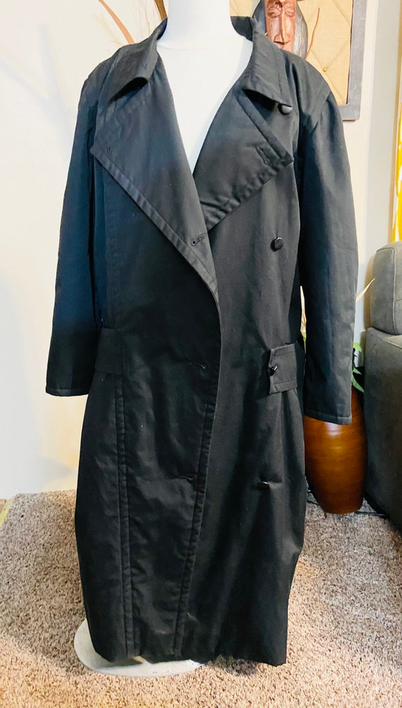 Vintage Courreges Black Trench Coat