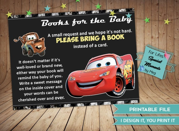 Disney Cars Book Request Tickets Instant Download Made To Etsy