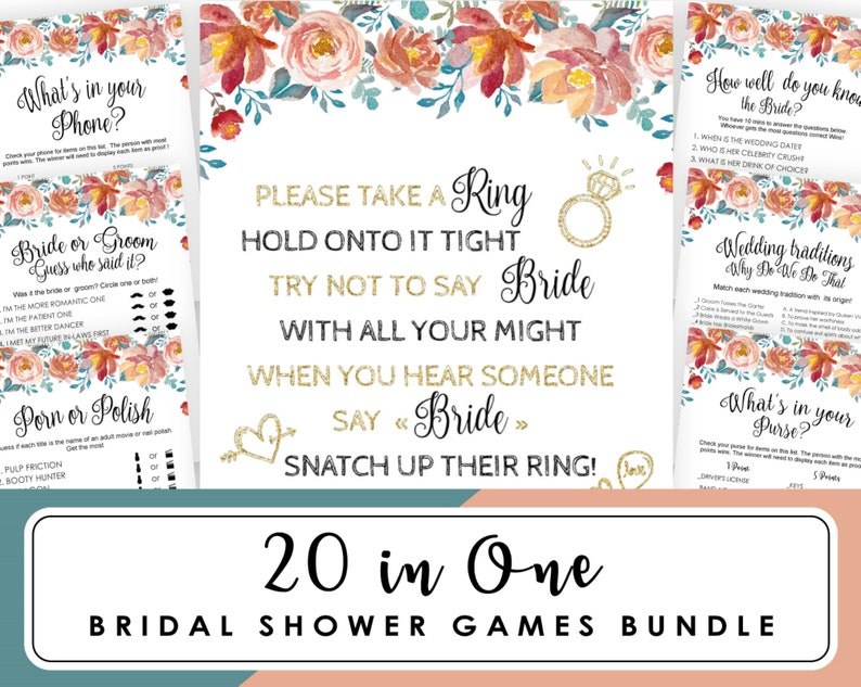 Bridal Shower Game How Well Do You Know The Bride Editable Pdf Bridal Shower Romantic Blush Pink Rose Flowers Gold Editable Game