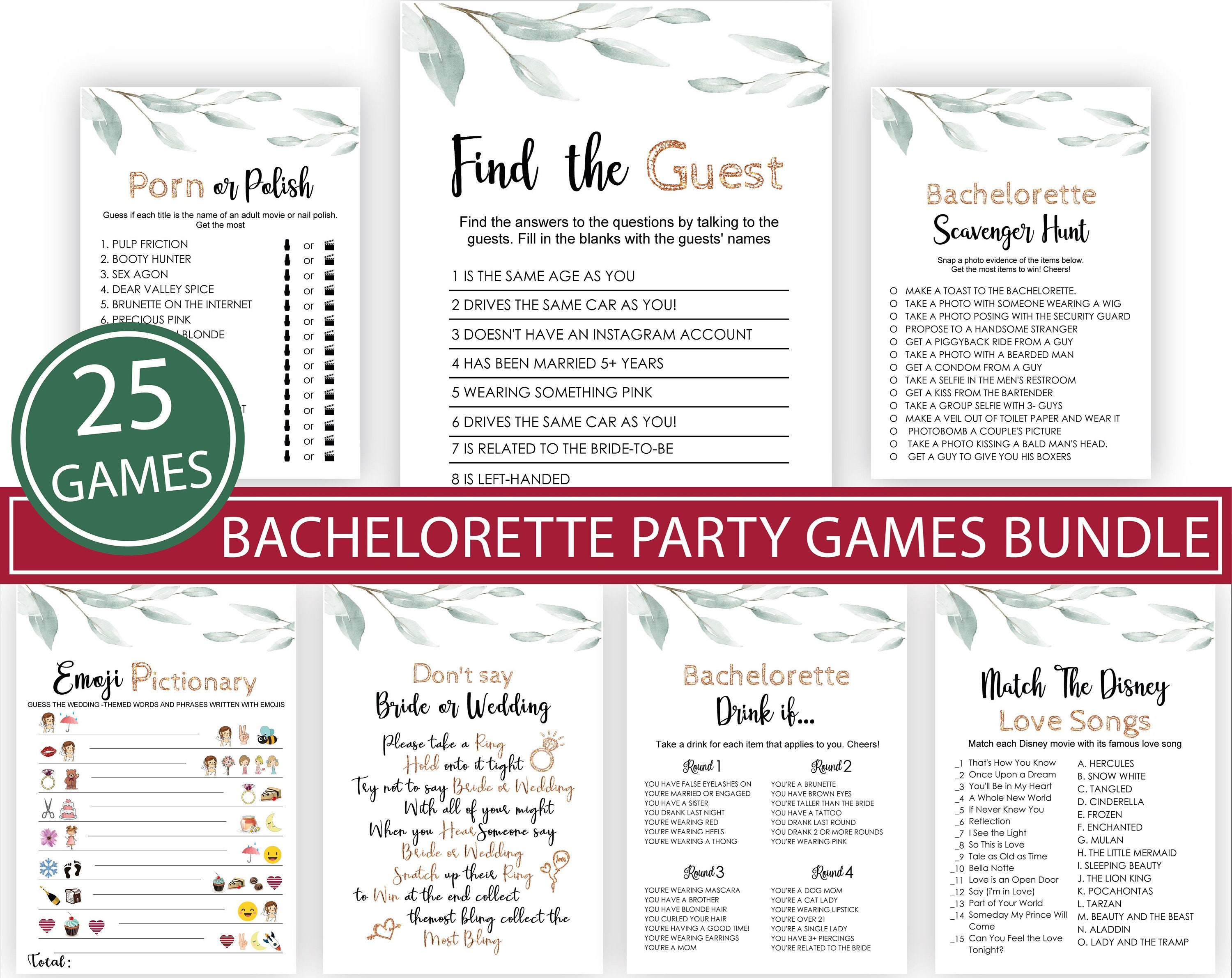 Bachelorette Party Games - The bride's dirty little secrets - bridal shower  game - yellow, pink, green - instant digital download AWB-2-14
