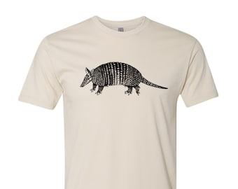 Armadillo T Shirt Funny Animal Shirt Cool Armadillo Shirt Cute Animal Shirt Vintage Animal Tee Retro Graphic Tees