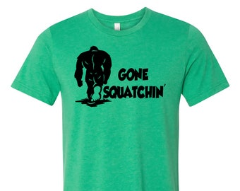 Bigfoot GONE SQUATCHIN' T Shirt Cool Vintage Bigfoot Tees Going back to the Forest get away from humans T Shirts