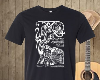 Willie Nelson Concert Poster T-shirt (Armadillo World Headquarters)