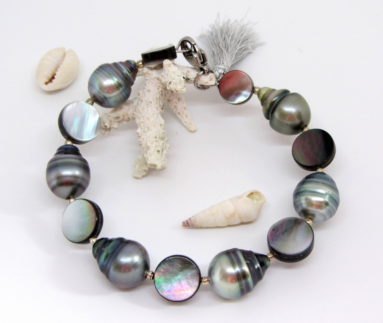 bracelet femme perle de tahiti nacre perle noire nacre. Black Bedroom Furniture Sets. Home Design Ideas