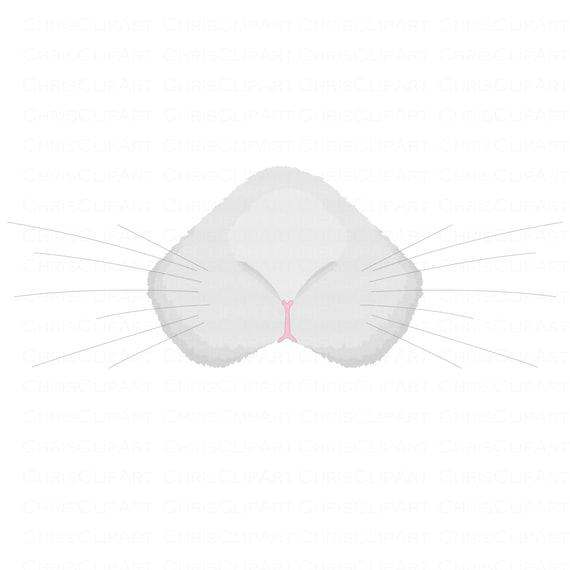 BUNNY NOSE svg Easter Bunny Svg Clipart Bundle Rabbit Nose Svg