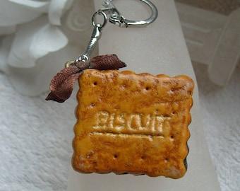 MODELAGE BISCUIT FOURRE bijou de sac   biscuit fourré chocolat pour l'embellissement de votre sac a main unique fait main artisanal