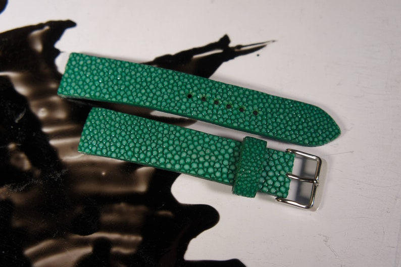 d6b04284bdc Watch strap Stingray leather 18 20 22 24mm watch band For