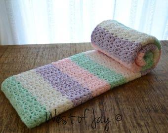 Crochet Color Block Baby Blanket - Crochet Baby Blanket - Crochet Color Block Blanket - Color Block Blanket
