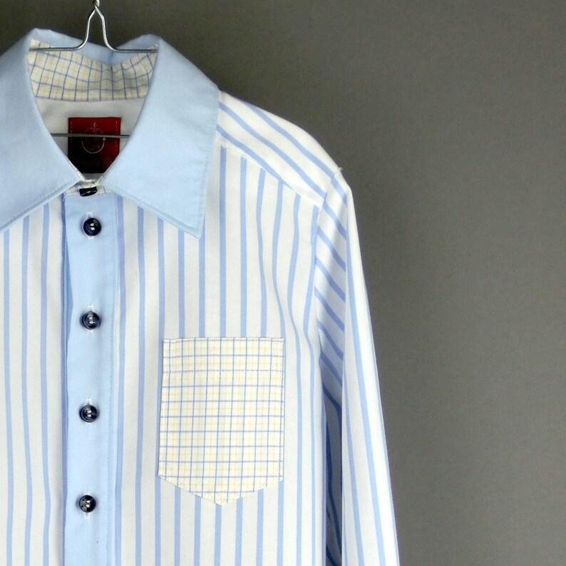 91ee06d012 Jungen Hemd schick Gr. 116 Upcycling Produkt aus | Etsy