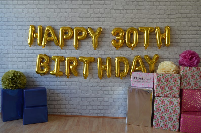 40th Happy 50th Rose Gold Balloons 50th Gold Foil Custom Age Bday Silver