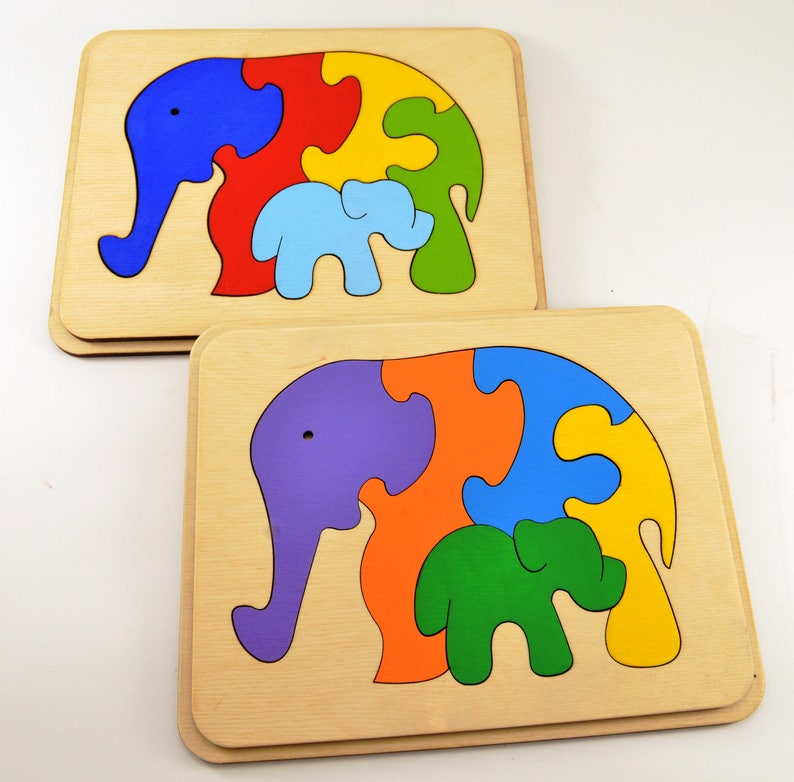 Wooden Toys Wooden puzzle Chrisrmas baby gifts Wooden animal image 1