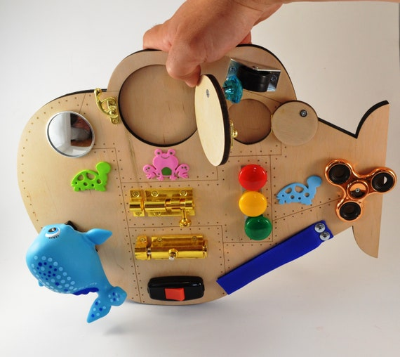 Sounds toys Submarine Busy board Travel toy Toddler toys Latch   Etsy