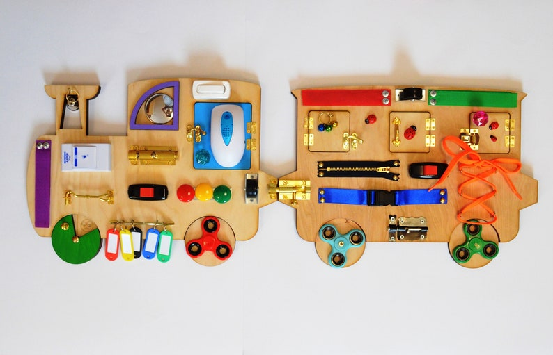 Musical toys Train Busy board Baby 1st Christmas gift image 0