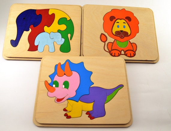 Set of 6 ets Wooden puzzle Lacing Toys Wooden toys Handmade Wood Lacing Toddler gifts Baby toys Sensory toys Motor skills Busy board Autism