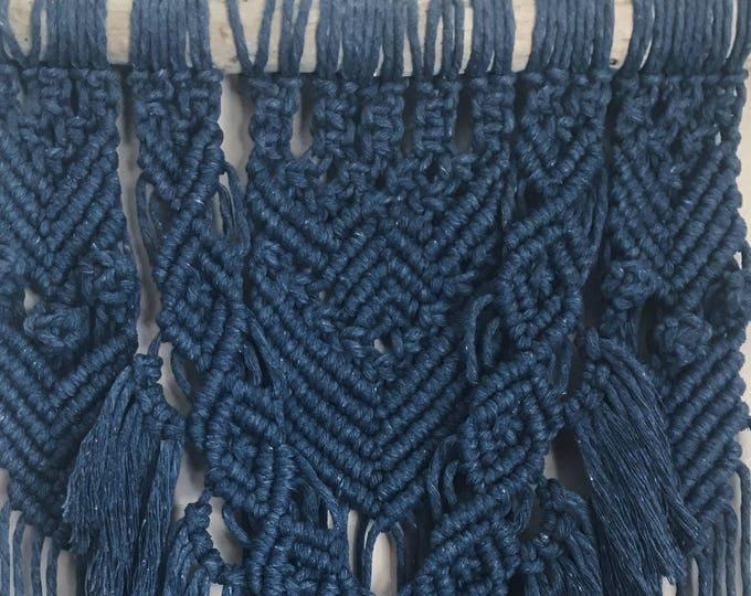 I N D I G O D D E S S - indigo macrame wallhanging, handmade, blue