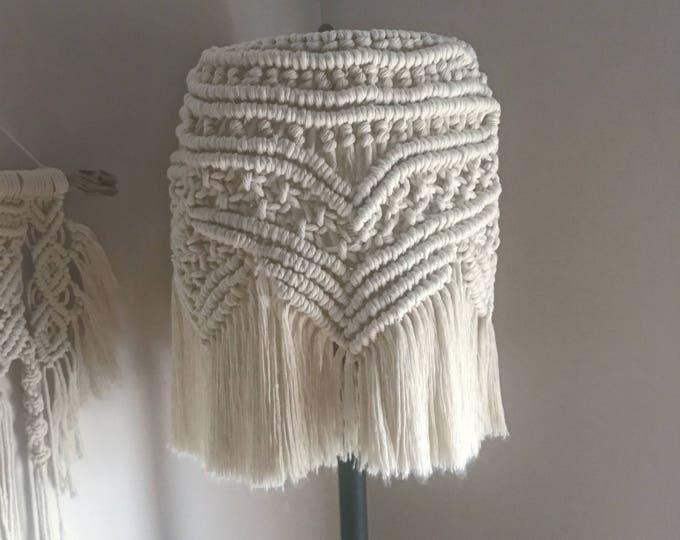 Macrame Lampshade - handmade