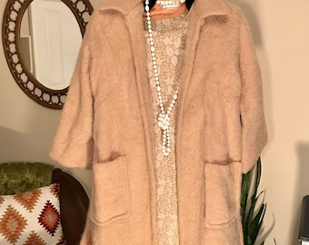 Mid century Emily Wetherby mohair dress coat