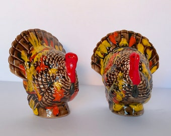 Ceramic turkey set