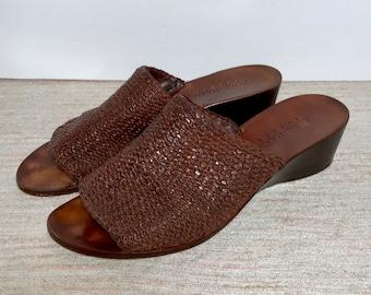 Vintage Cole Haan Resort braided leather sandals