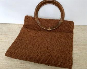 Vintage Arrowcraft top handle tote