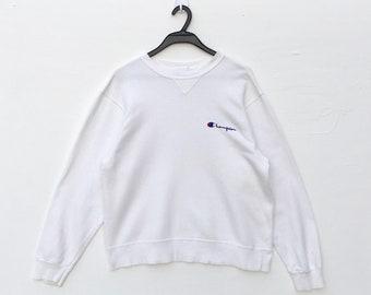1bc96845237 CHAMPION embroidered script logo Sweatshirt Pullover   Champion sweater.  Hip Hop Swag Streetwear   skateboard Tupac