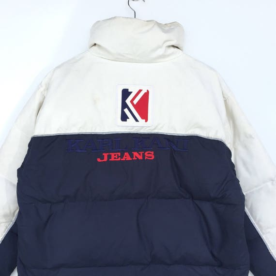 Vintage Down Jacket KARL KANI Embroidered big logo jacket/puffer / Bomber / sweater Hip Hop Swag Tupac Dre j2eaCkVZOk