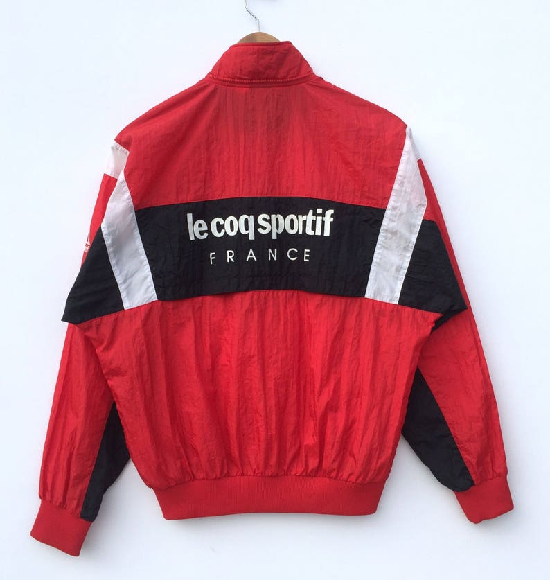 993123bce1ded Vintage Le Coq Sportif France windbreaker / sweater / jacket / full zipper  Retro design