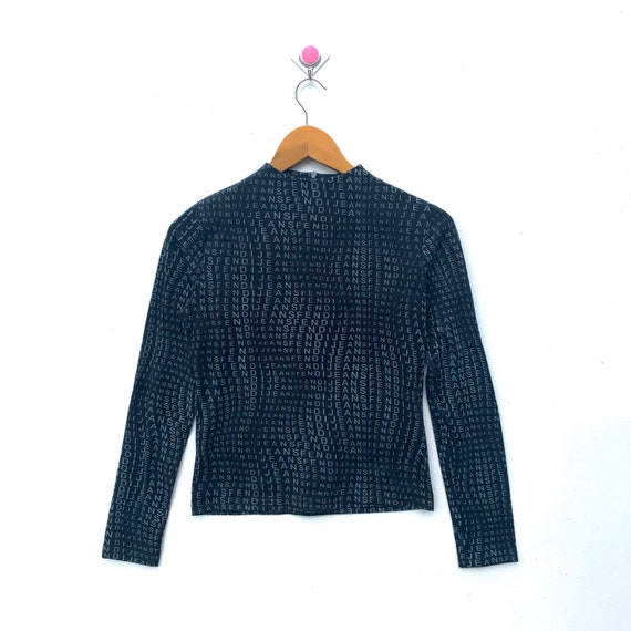 100% Authentic LUXURY Black FENDI JEANS Zucca All