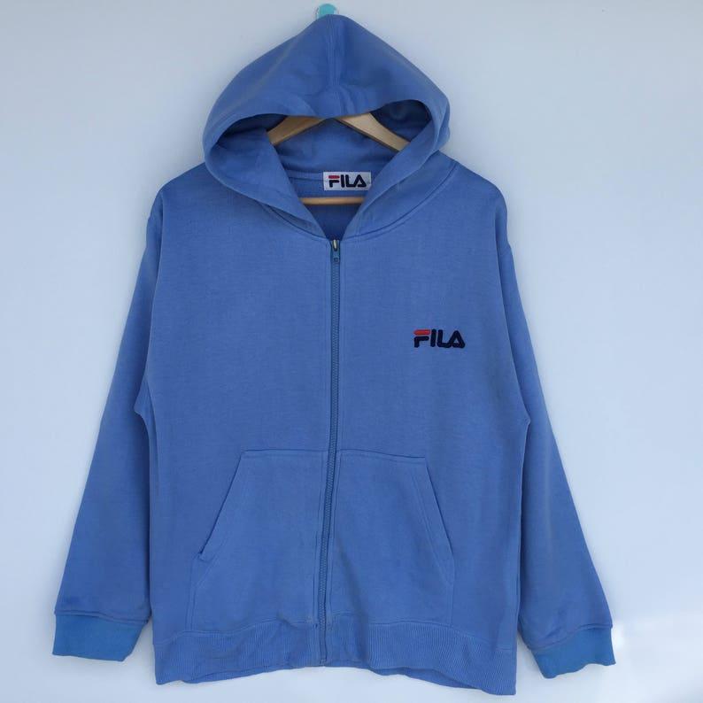 b44fc0c54fd1 RARE Funky Fila sweatshirt with Hoodie   Fila Jacket   Fila sweater NOT  Supreme Adidas Yeezy Swag Hip Hop Tupac Dre