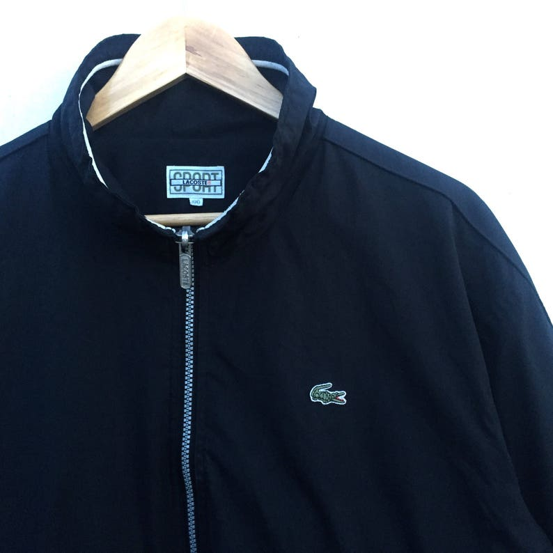 fd88ce4ceec4b CHRISTMAS SALE!! Original Black LACOSTE Sport Windbreaker Full Zipper /  Chemise Lacoster light jacket Sweater!! Hypebeast!! Luxury!!