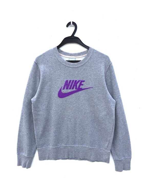 popular brand best online uk store Authentic NIKE Swoosh Embroidery Big Logo Pull Over Sweatshirt / Nike  Crewneck / Nike Jumper / Nike Shirt / Nike Jacket / Nike ACG / USA