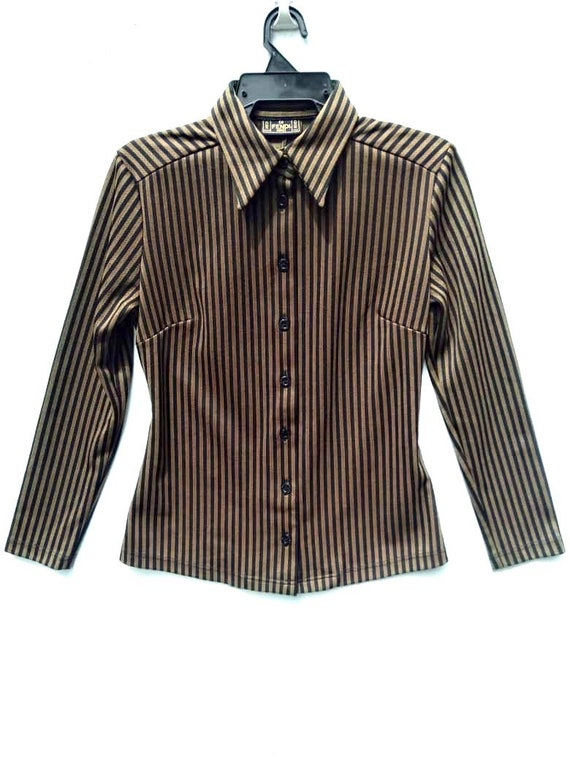 100% Authentic LUXURY  FENDI JEANS Zucca Striped A