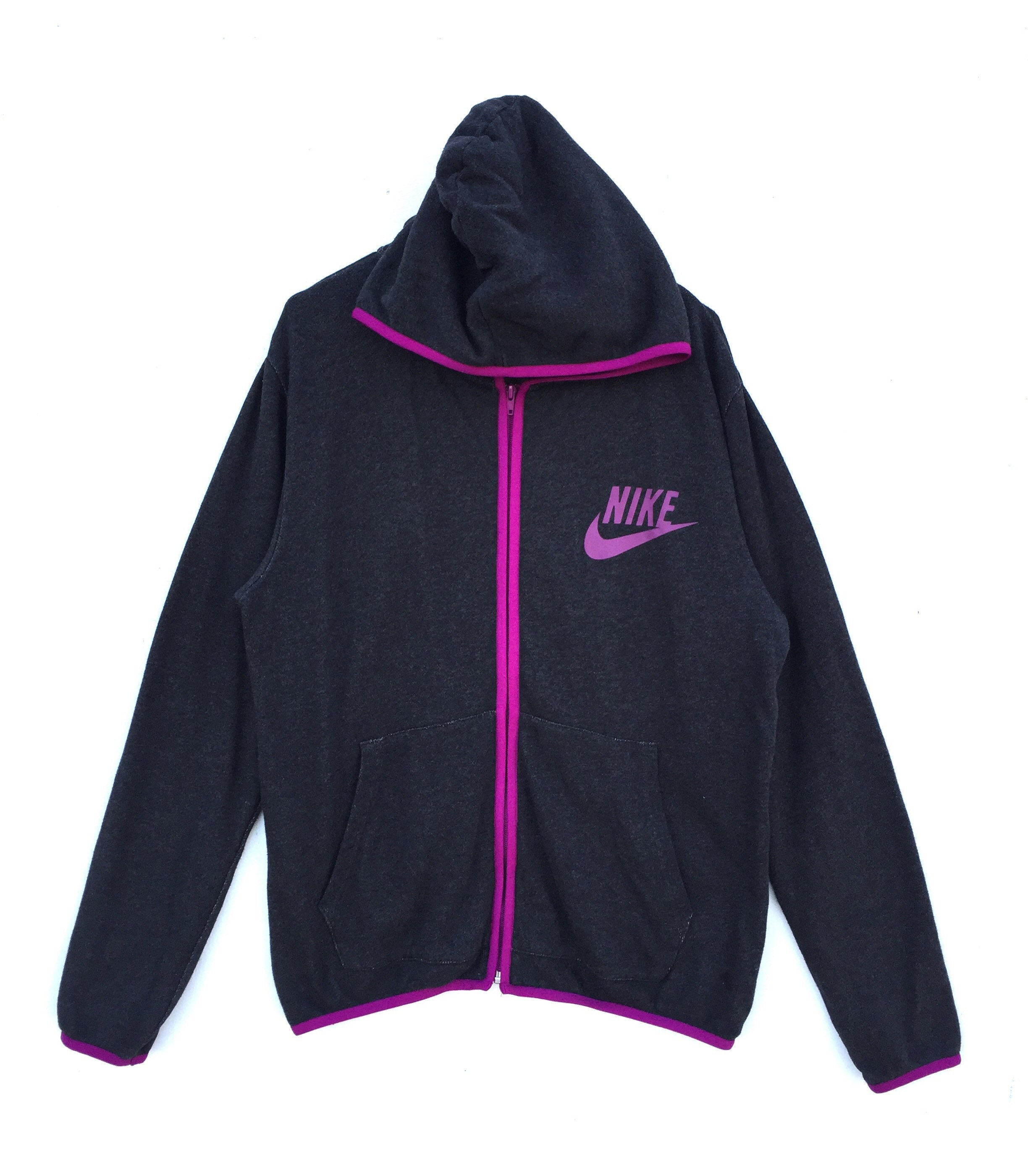 fc28de4bb3d7 Authentic Pink NIKE Swoosh Track Sport Small Logo Hoodies
