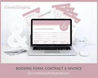 wedding invoice etsy
