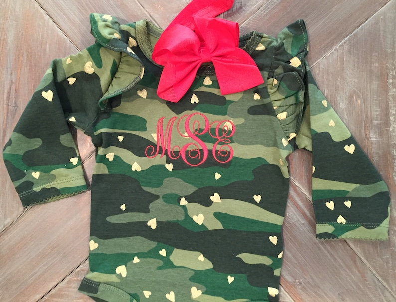 a856de5c6c60 Baby Girls Clothing Camo Baby Outfit Baby Girl Clothes | Etsy