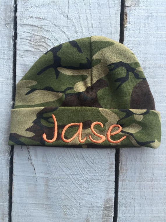 Baby Camo Clothes Hospital Hat Baby Camo Personalized Hat  8f83cb5a99b