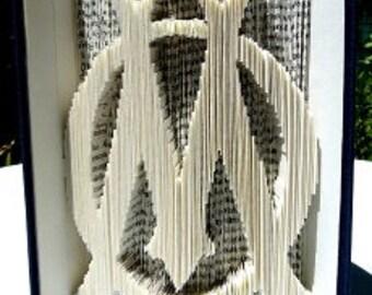 """""""OM"""" 3D book sculpture"""
