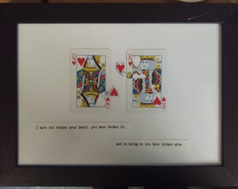Framed Playing Card Art Wuthering Heights