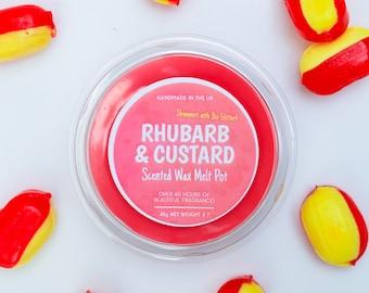 Rhubarb & Custard Wax Melt Pot - Sweet Wax Melts, Hand Poured, Handmade Wax Melts
