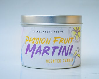 Passion Fruit Martini Candle, Scented Candles, Handmade Candles, Cocktail Candles, Fresh Fruit Candle Christmas Gift Candles
