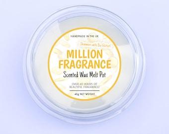 Million Fragrance Wax Melt Pot - Aftershave Wax Melts, Handmade Wax Melts, Money Wax Melts