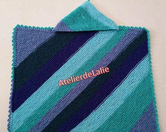 Blanket for crib, stroller, acrylic, worsted wool
