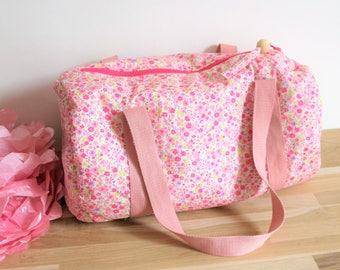 Bag style pink floral Liberty, girl, dance bag duffel bag sports pool