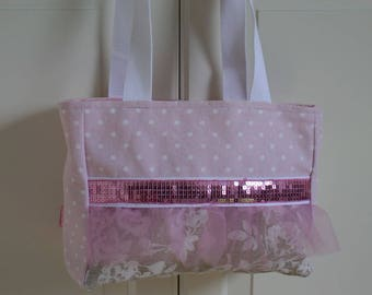 Tulle and sequins for girl, dance bag sports or dance bag for little boy