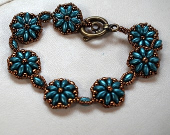 Blue bracelet flower bracelet