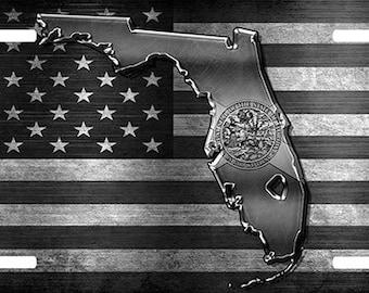 Florida - Custom License Plate - Chevy - Ford - Dodge - FSU - Flag
