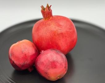 Artificial 80mm Red Pomegranate Fake Pomegranate