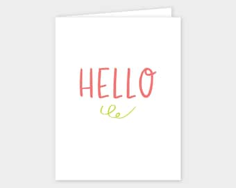 HELLO Greeting Cards - Set of 10